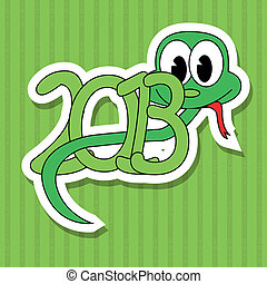 2013 year of the snake with green background