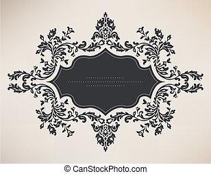 Vintage frame with floral ornament