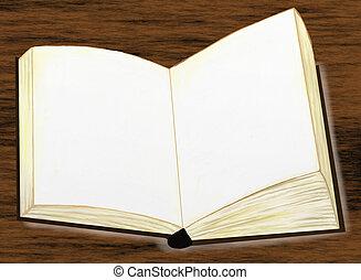 Blank Book on Oak Table