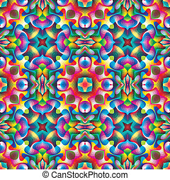 Seamless arabesque mosaic - Pattern in art deco and vivid...
