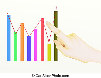 A Hand Pointing to Upward Graph