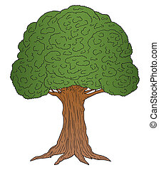 Cartoon Tree - Vector illustration of a cartoon tree