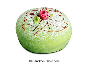 Princess cake isolated on white