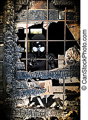 evil window - Scary alien creature in an abandoned house....