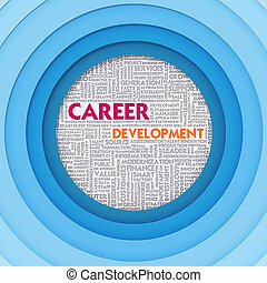 Business word cloud for business concept, Career Development