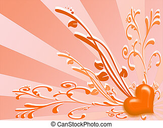 Spring colors background with floral decoration