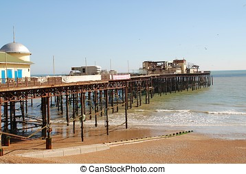 Hastings pier, England - The Victorian pier at Hastings in...
