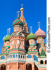 domes of Saint Basil's Cathedral in Moscow,