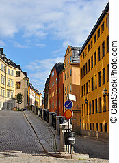 Gamla Stan - Along the streets of Gamla Stan The Old Town in...