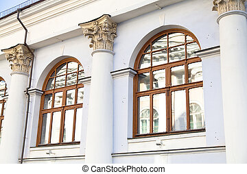 old house in historical Moscow city