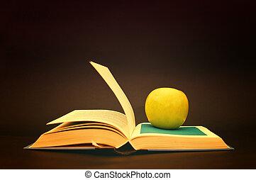 maçã, livro