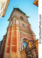 Tyska kyrkan in Gamla stan in Stockholm, Sweden. The...