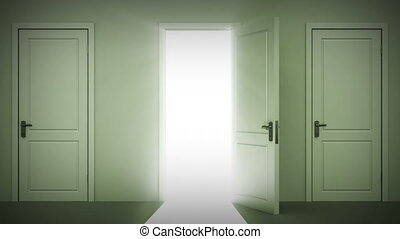 Doors opening and closing looped