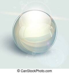 Glass ball background - Transparent glass ball on background...