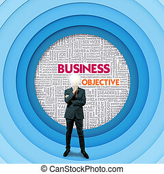 Business word cloud for business and finance concept, Business Objective