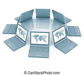 Circle from laptops