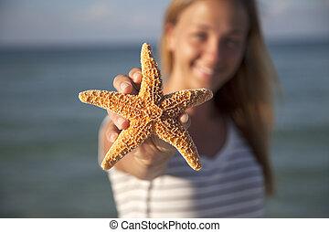 婦女, 藏品,  starfish
