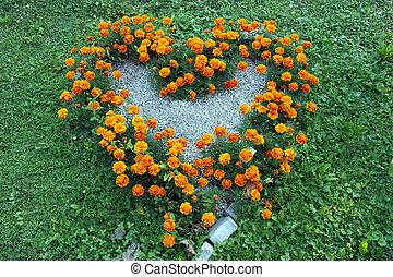 Coração, FORMA, flores