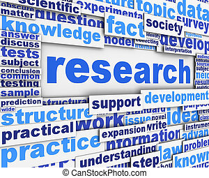 Research poster design Scientific research message concept
