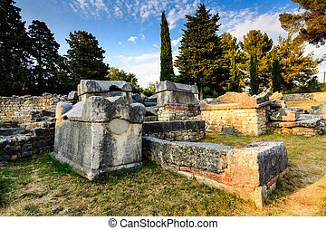Church Ruins in the Ancient Town of Salona near Split,...