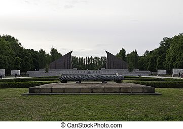 Treptower park is a park along the river Spree in...