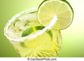 Lime cocktail drink - Refreshing summer cocktail drink with...