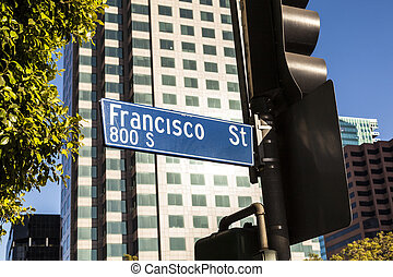 street sign Francisco street in Hollywood