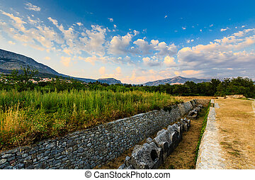 Cemetery Ruins in the Ancient Town of Salona near Split,...