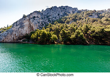 National Park Krka and River Krka near Town of Skradin,...