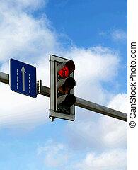 stoplight in the sky
