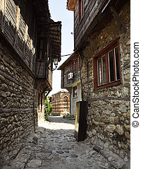 The streets of Nessebar - Nessebar, Bulgaria. The streets of...