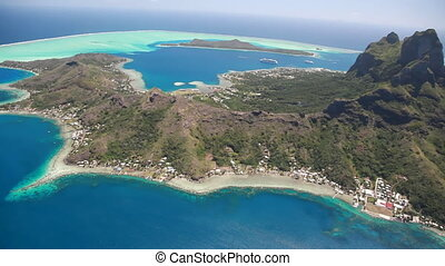 Bora Bora - Helicopter Flight over Bora Bora Lagoon in...