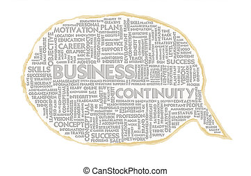 Wordcloud on texture paper speech bubble, Business...