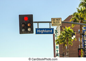 Highland BLV in Hollywood