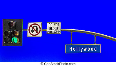 street sign Hollywood Boulevard in Hollywood