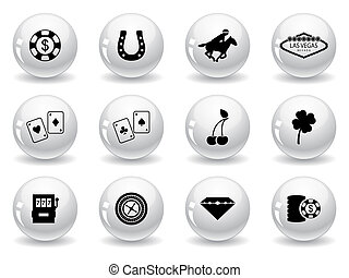 Web buttons, Las Vegas icons
