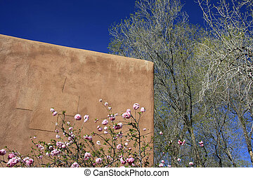 Every Day Life Architecture - Detail of a adobe building in...