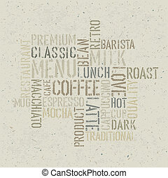 Coffee themed poster design template Vector, EPS10