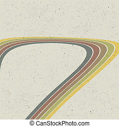 Retro lines abstract background. Vector, EPS10