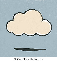 Cloud retro icon. Vector illustration, EPS10.