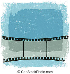 Grunge film strip poster Vector, EPS10