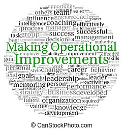 Making Operational Improvements concept in word tag cloud on...