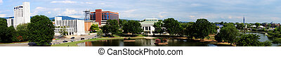 Panoramic cityscape of downtown Huntsville, Alabama from Big...