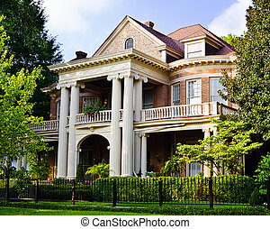 Historic Southern house with Greek revival architecture