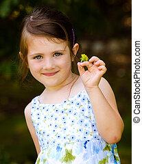 2UTE, 戶外, 公園, 年輕, 花, 藏品, 肖像, 女孩