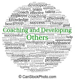 Coaching and Developing concept in word tag cloud - Coaching...