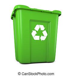 緑, プラスチック, リサイクルしなさい, 大箱