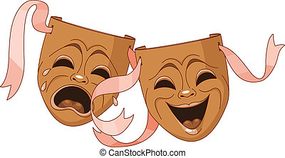 Tragedy and Comedy masks -  Tragedy and Comedy Theater masks