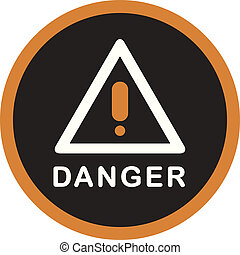 A picture of a danger sign