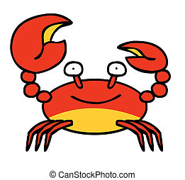 Happy Red Crab - A happy Crab smiling Well layered vector...